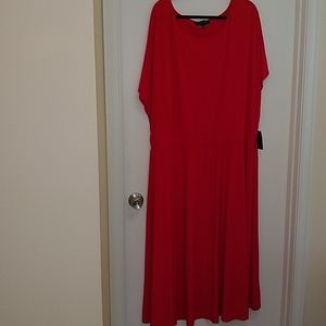 Eloquii red cap sleeve maxi dress